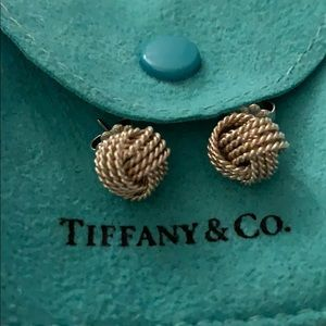 Tiffany mesh knot earring